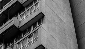 Tower block in abstract